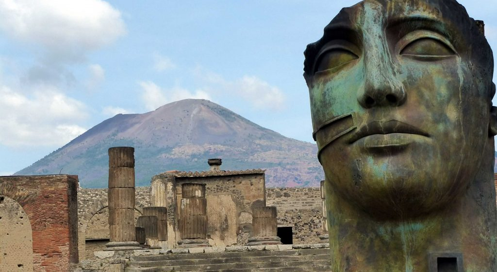 Pompeii and brooding Vesuvius