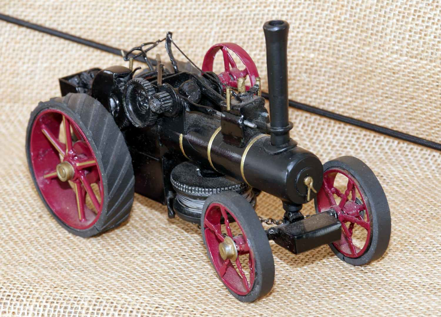 A stunning scratch built non operating steam tractor