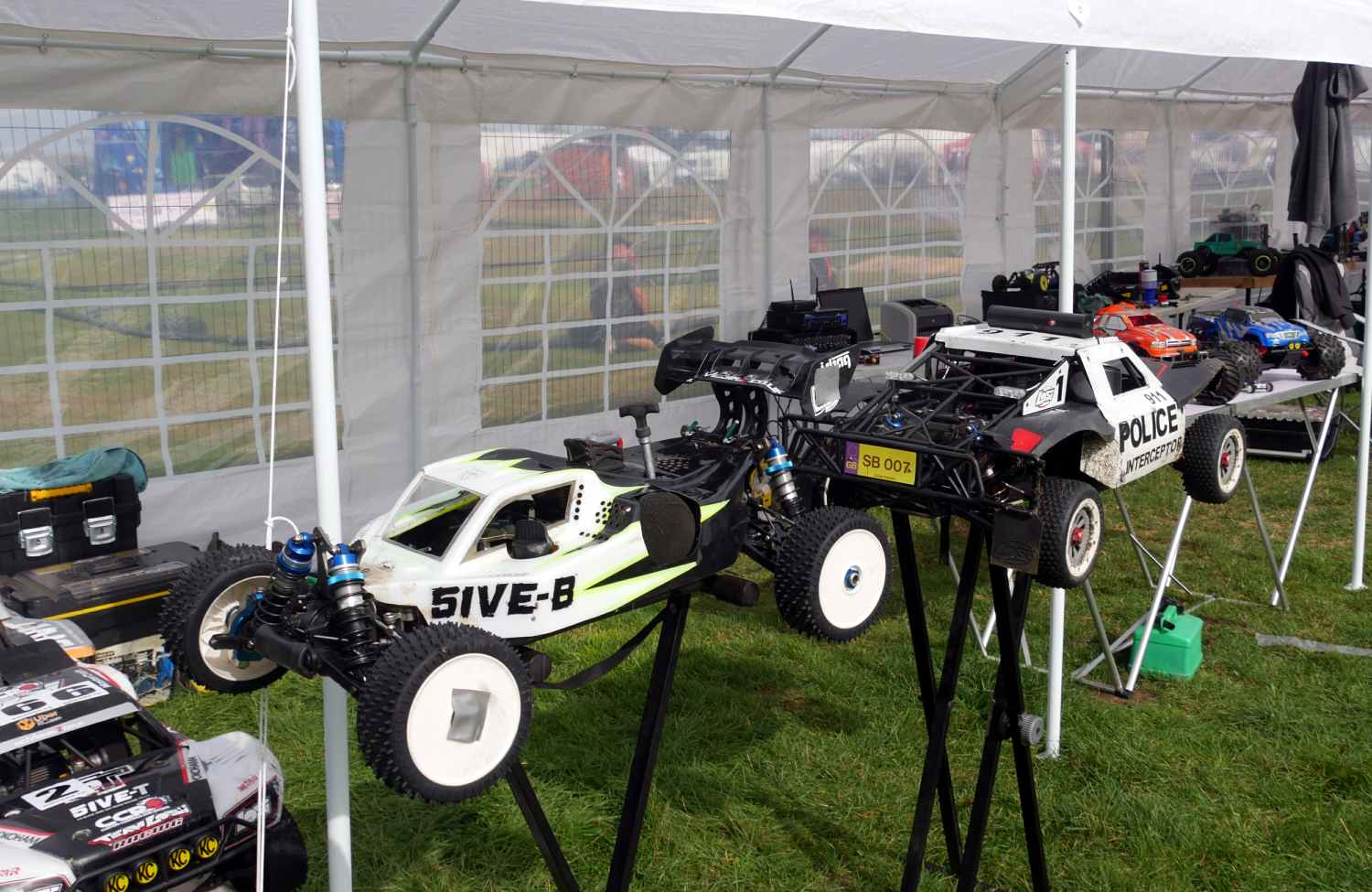 Various model petrol driven racing cars