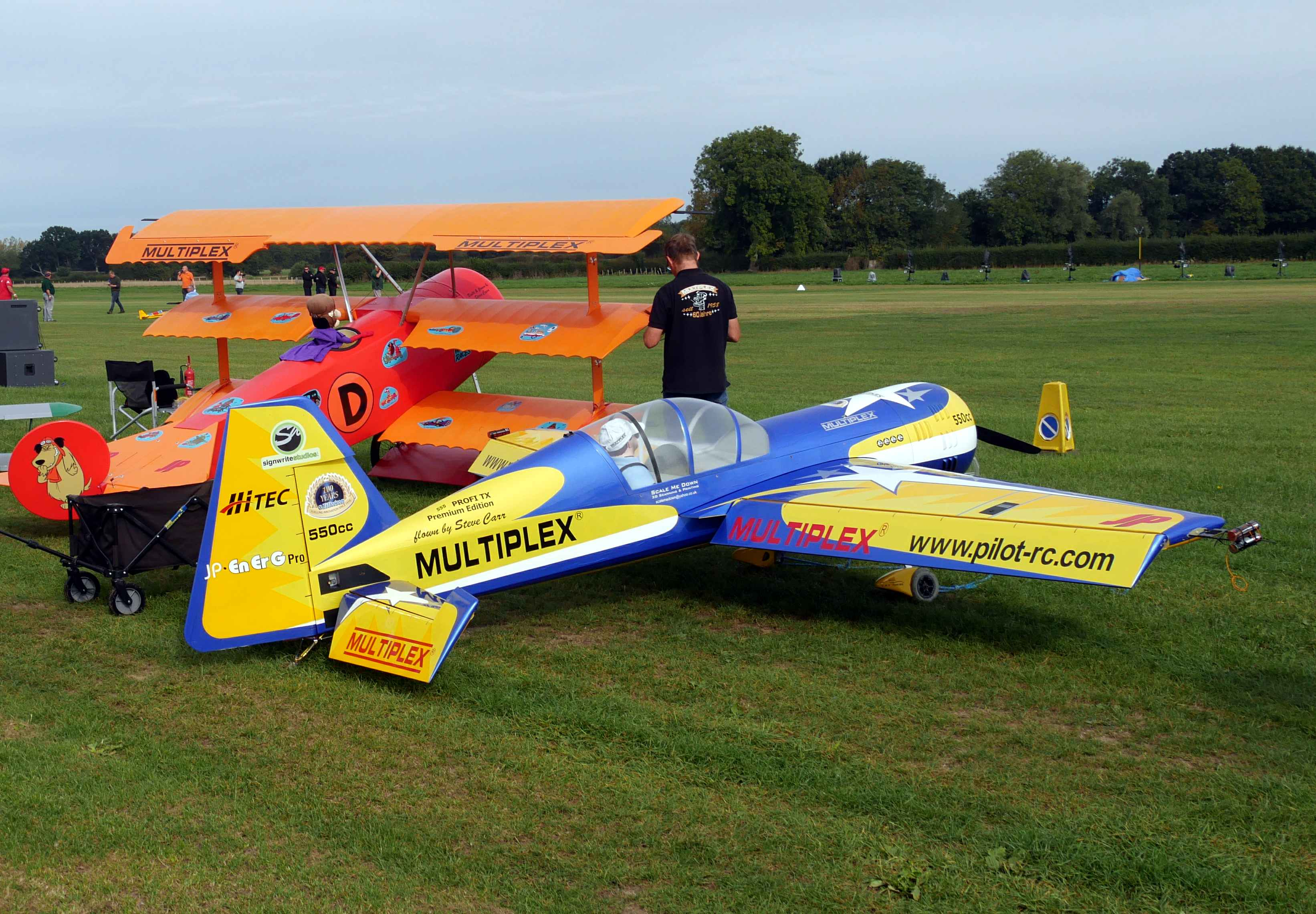 Two large scale models, including a two-metre plus Focker Triplane