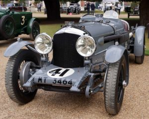 An open, racing style Bentley that is beautifully prepared