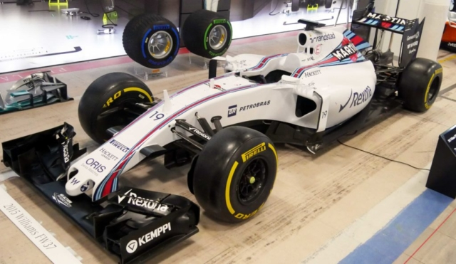A Williams Mercedes F1 car