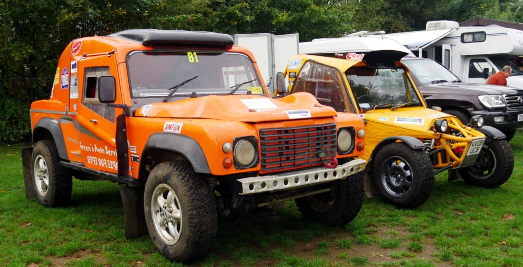 Two off-road racers