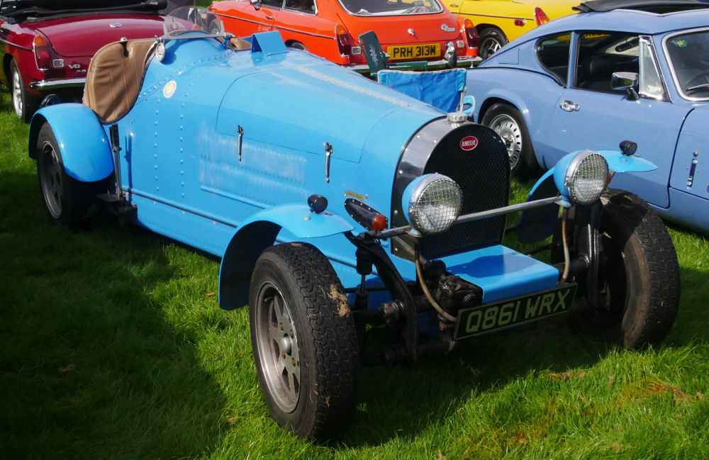 Kit car replica of a Bughatti on a VW Bug chassis.
