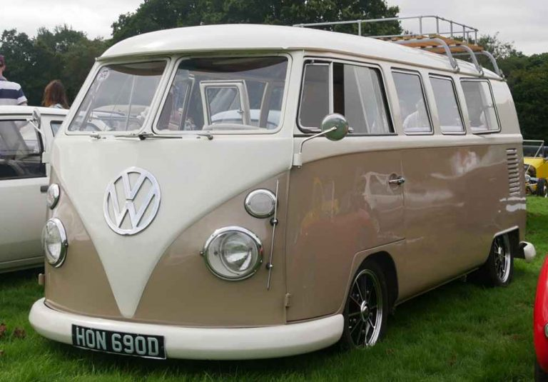 Multi-windowed VW T1 van from the front