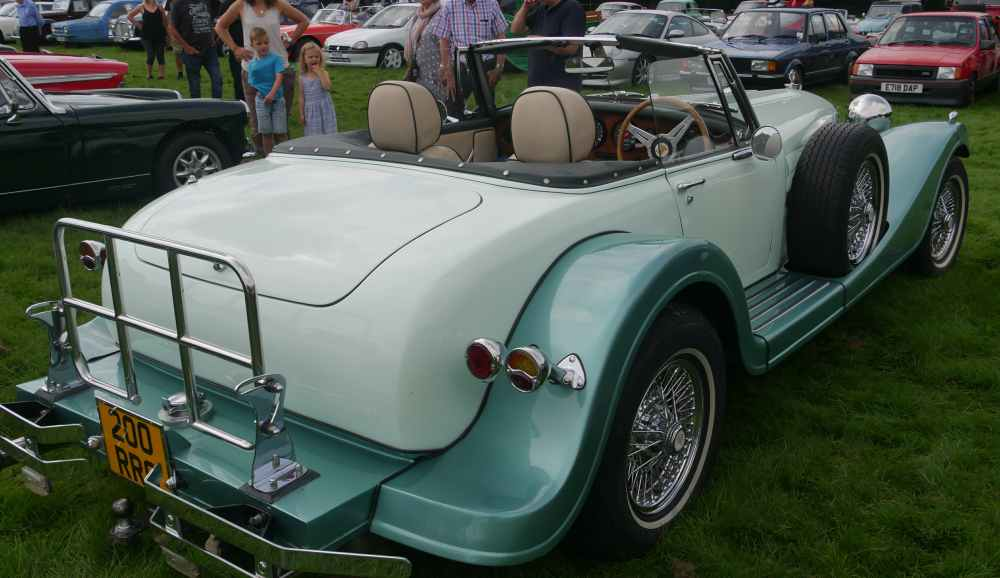 Back view of the Midget-based kit car