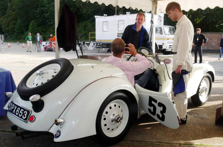 A very pretty two-seater sports car