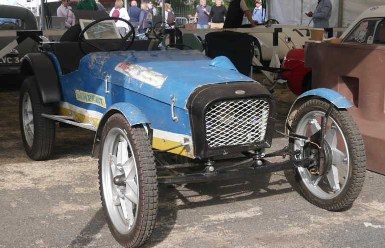 A trials car is little more that a spindly chassis covered in thin alooy with centrally pivoted axels and narrow 18 inch wheels